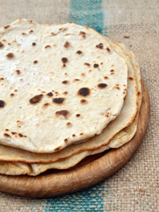 Chapati (flatbread). Via One Equals Two.