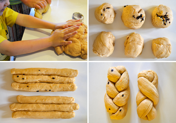 How to roll Greek Easter bread dough