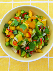 Mixed capsicum salsa