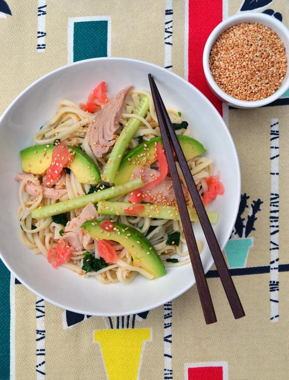 Udon noodle and sesame salad