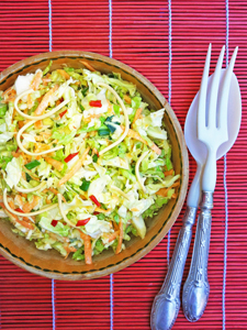 Chilli slaw with crispy noodles