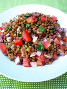 Lentil salad 5 minute