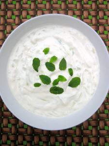 Basic cucumber raita