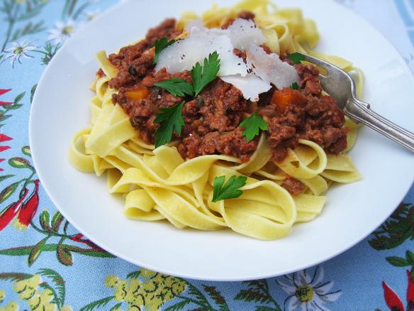 Spiced lamb ragù with tagliatelle