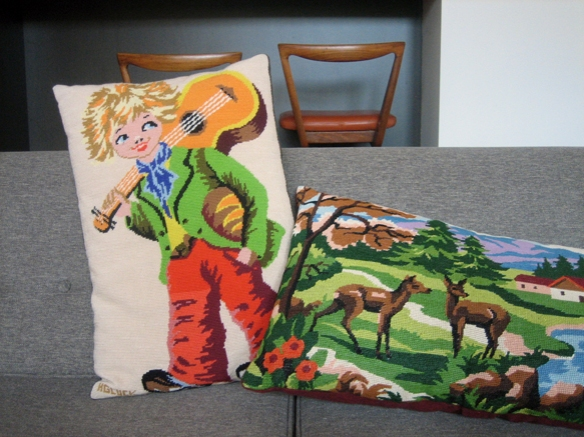 Hand-made tapestry cushions