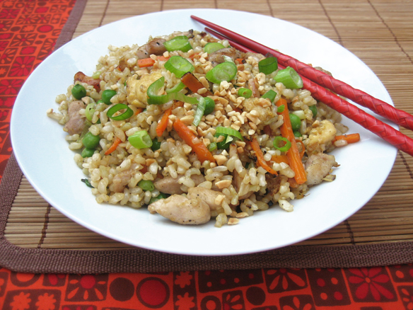 Special fried brown rice