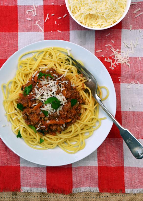 Full-of-veggies bolognaise