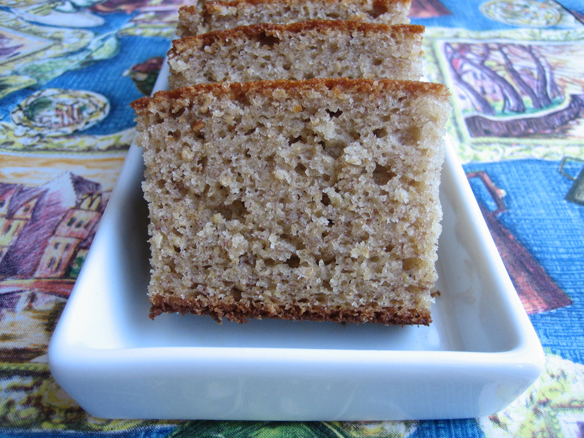 Banana honey cake