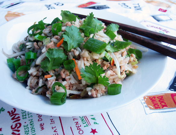 Pork and ginger rice