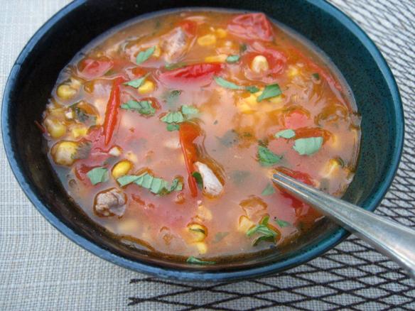 Chicken succotash soup