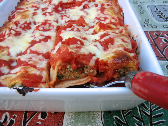 Pork, fennel and spinach canneloni