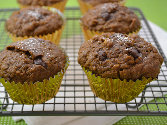 Chocolate pumpkin muffins