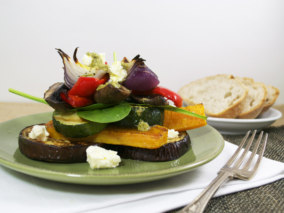 Roast vegetable stacks