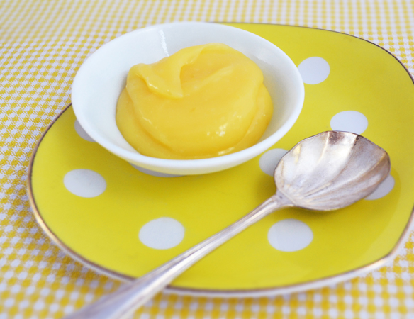 Lemon curd in a bowl