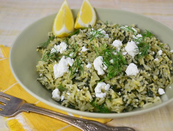 Recipe 1] Spanakorizo (Greek spinach and rice)