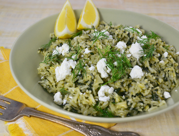 Spanakorizo (Greek spinach and rice)