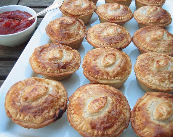 Grand Final mini meat pies
