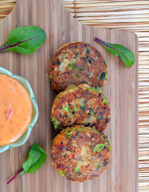 Quinoa sweet potato cakes
