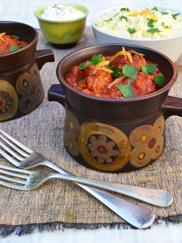 Lamb meatball tagine with couscous
