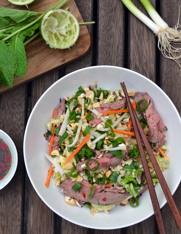 Vietnamese beef coleslaw