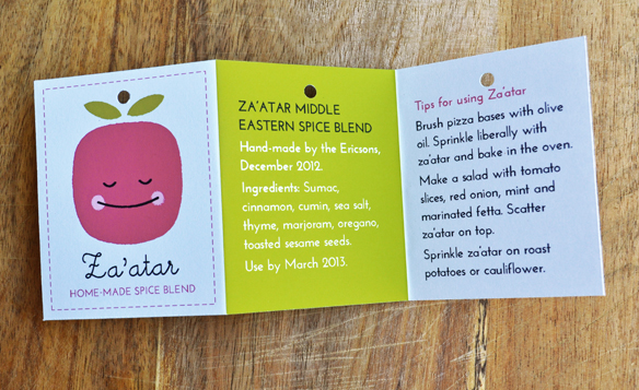 Zaatar label