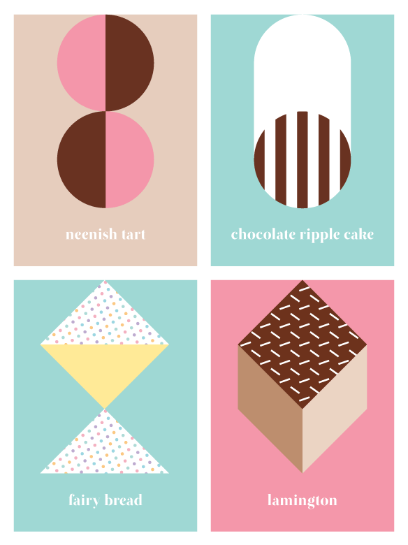 'Australian sweets' notebook range by Saskia Ericson