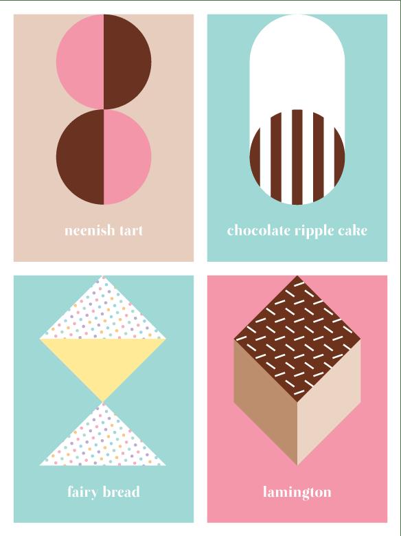 'Australian sweets' notebook range by Saskia Ericson