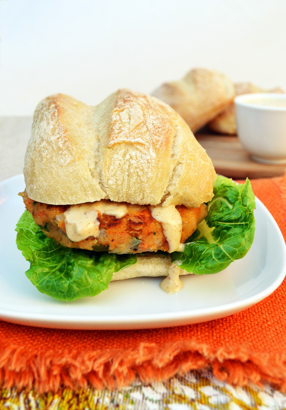 Bean burger with chipotle mayo