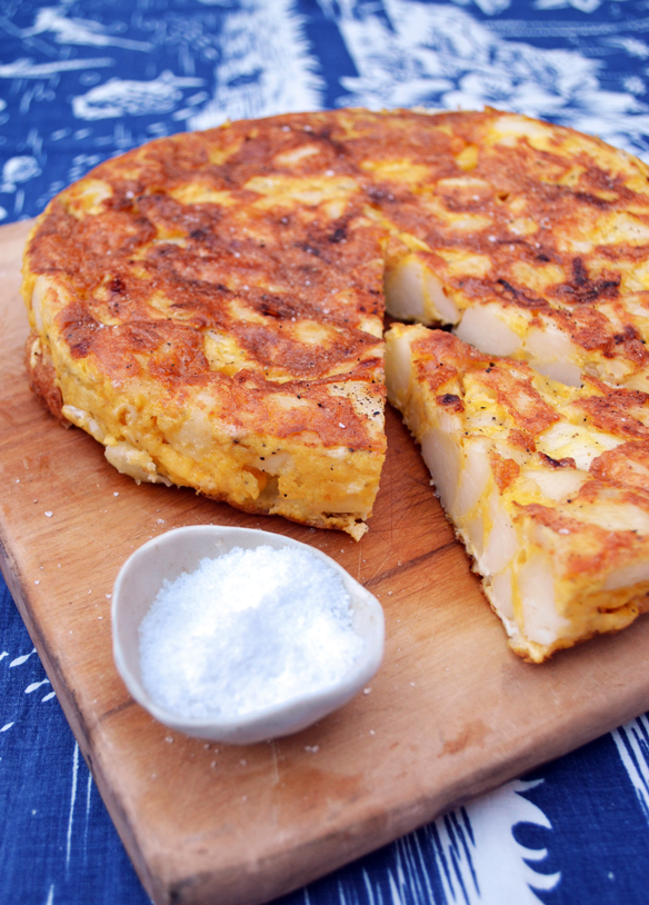 Potato tortilla. One Equals Two