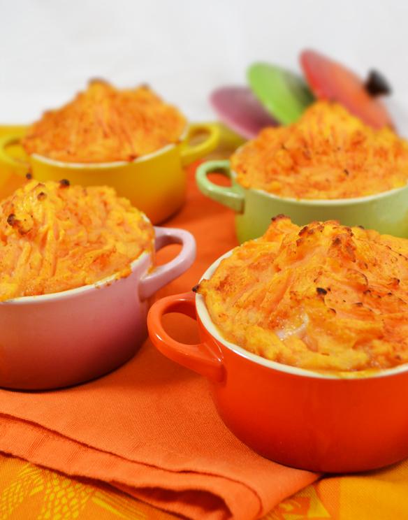 Recipe 2] Mini shepherd's pies with sweet potato topping