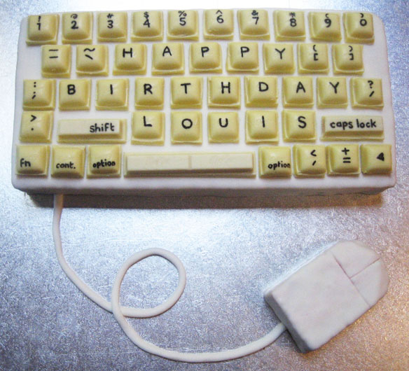 Old school keyboard cake