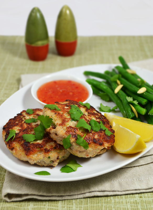 Chook, zucchini almond patties
