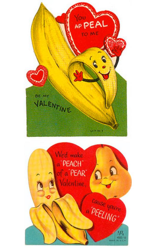 Vintage Banana Valentines