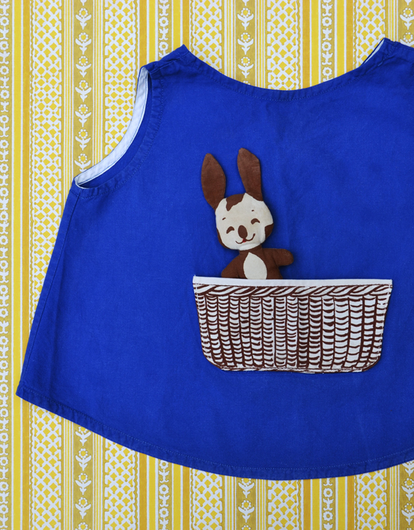 Vintage Danish apron with removable bunny