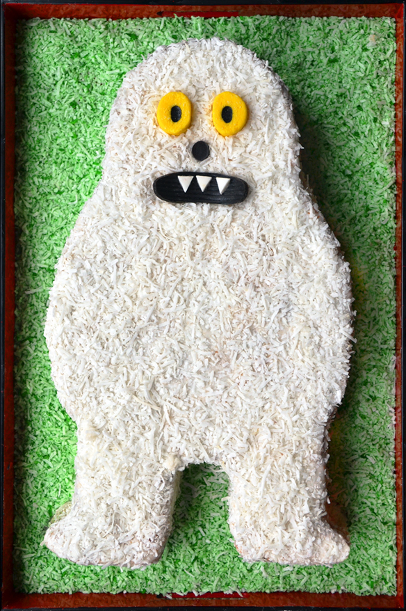 Abominable snowman cake. One Equals Two