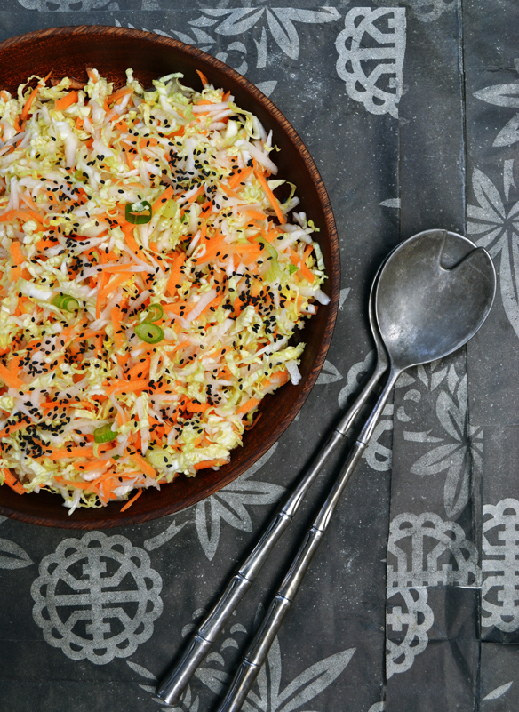 Kimchi coleslaw with daikon. One Equals Two.