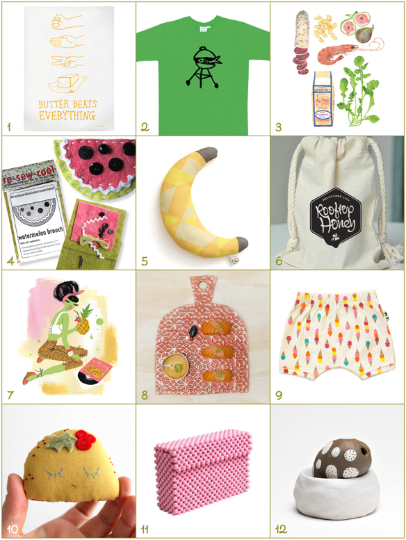 2014 food-related Gift Guide. Handmade in Melbourne.