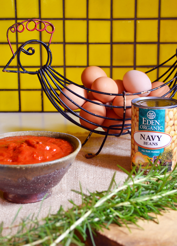 Ingredients for baked eggs