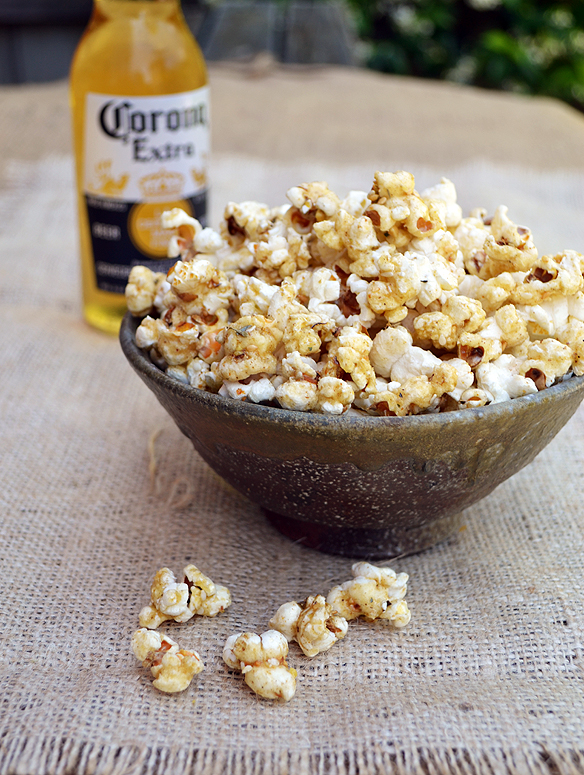 Honey-spiced dukkah popcorn. One Equals Two.