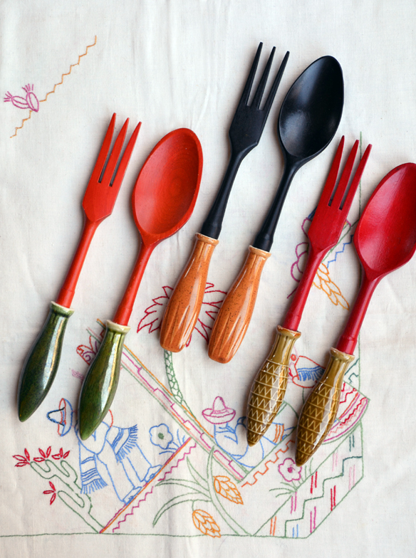 Vintage Hostess salad servers