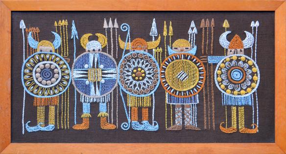 Vintage viking tapestry