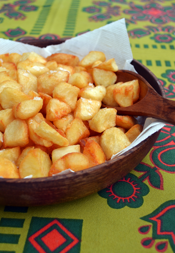 Best crispy fried potatoes! One Equals Two.