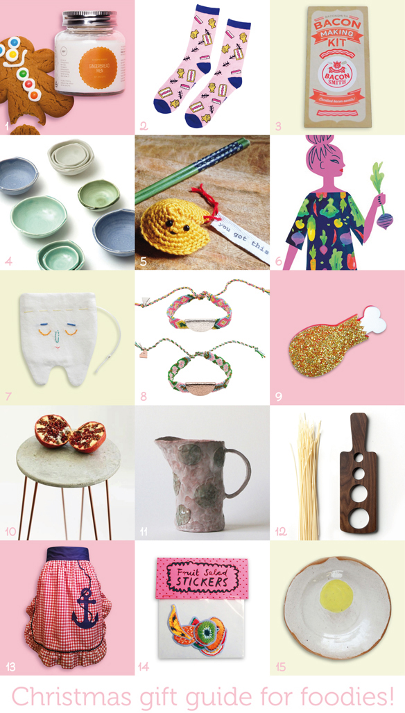 2015 Christmas Gift Guide for foodies. Via One Equals Two.