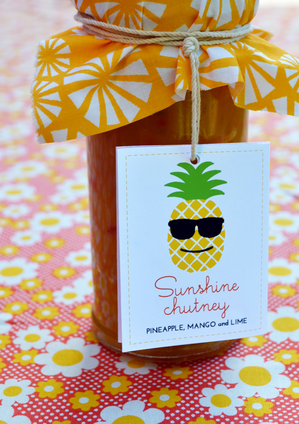 Sunshine chutney (pineapple, mango and lime). One Equals Two.